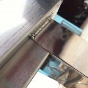 chân bàn inox công nghiệp 2m