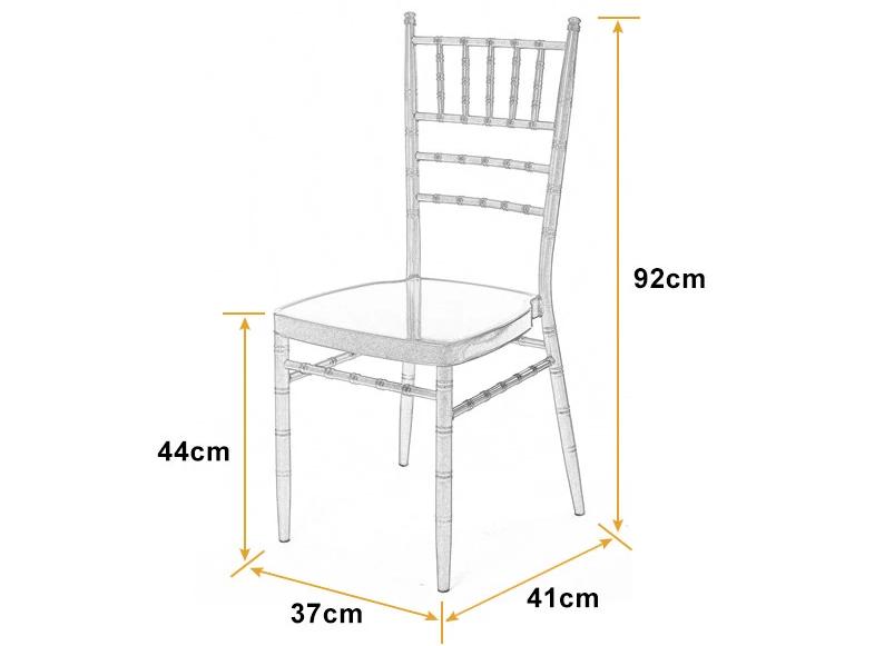 Kích thước ghế chiavari
