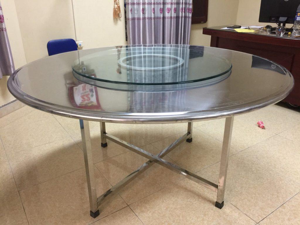 bàn tròn inox