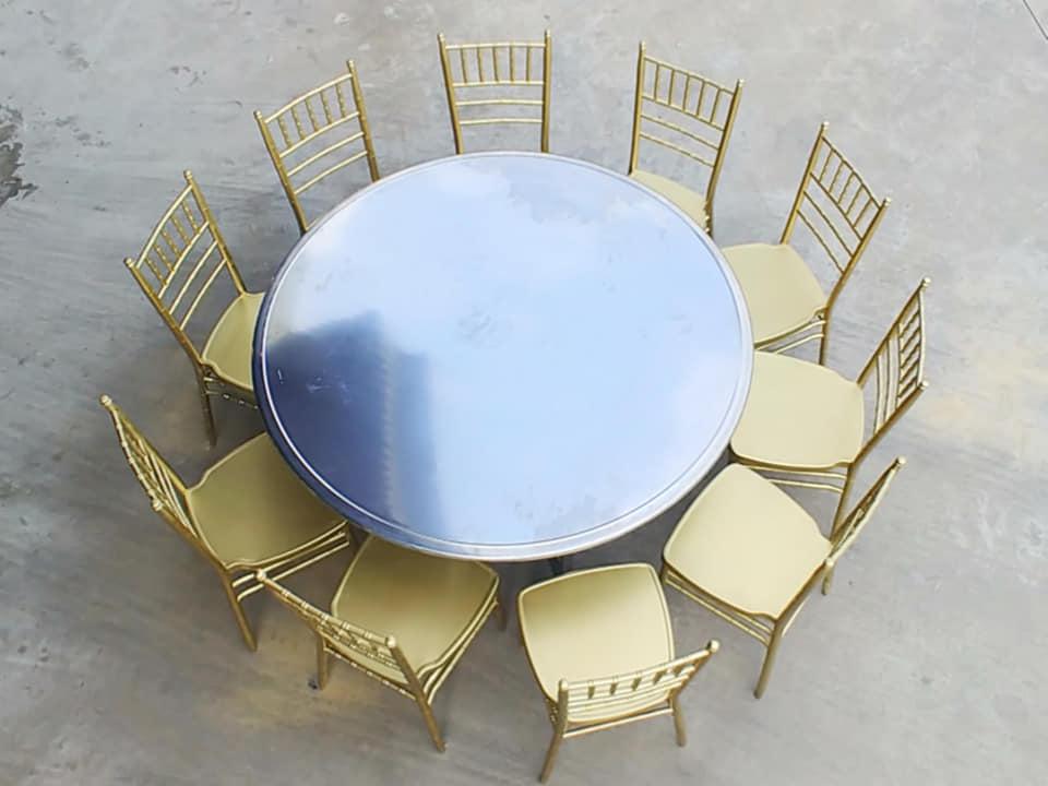bàn ăn tròn inox giá rẻ