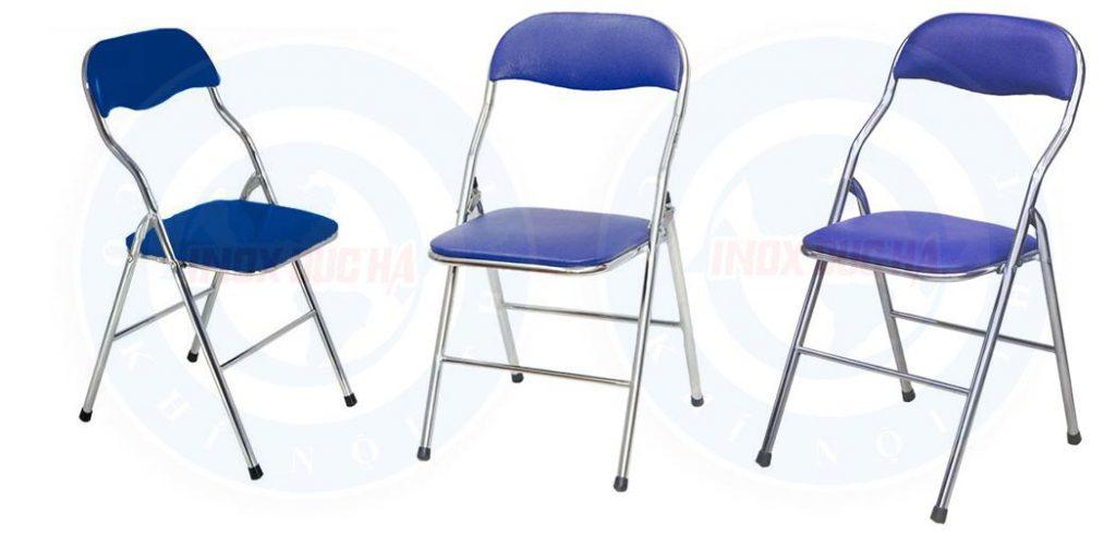 Ghế gấp inox đệm xanh hòa phát g01